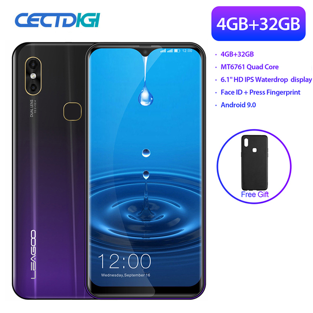 Super Big Screen Smartphone Leagoo M13 4GB RAM 32GB ROM MT6761 Android 9.0 Face Unlocked Dual Sim FDD LTE 4G Smart Mobile Phone