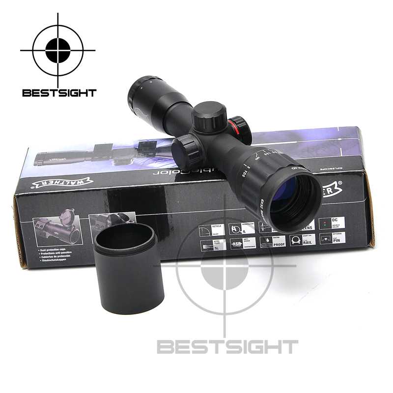 WALTHER 6X32 AOE Tactical Scope Riflescopes Optics Hunting Scope Red&Green Dot Illuminated Reticle Fiber Sight Riflescope 3 5 10x40e red green dot laser sight scope hunting optics riflescopes tactical airsoft air guns scope chasse sniper rifle scope