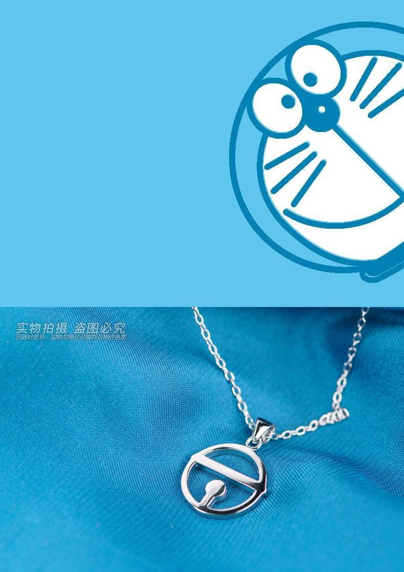 Jewelry Dora A dream pendant, doraemon silver 925 pendant, bell pendant necklace,