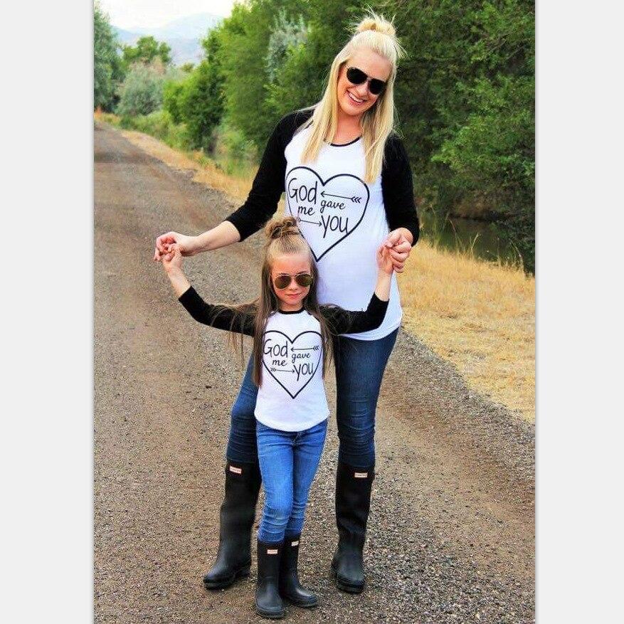 La familia de MVUPP se adapta a los trajes madre hija camiseta Dios - Ropa de ninos - foto 2