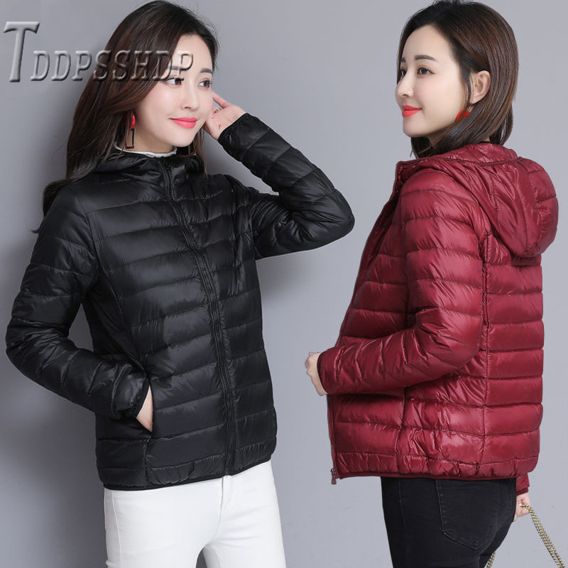 2019 Winter Short Women   Parkas   7 Colors Can Choose Zipper Stand Collar Female Jacket Coat