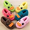 Дети крытый обувь зимняя обувь для детей новый SandQ baby infantil сапог милые утки желтый кофе зеленый красный бирюзовый теплые