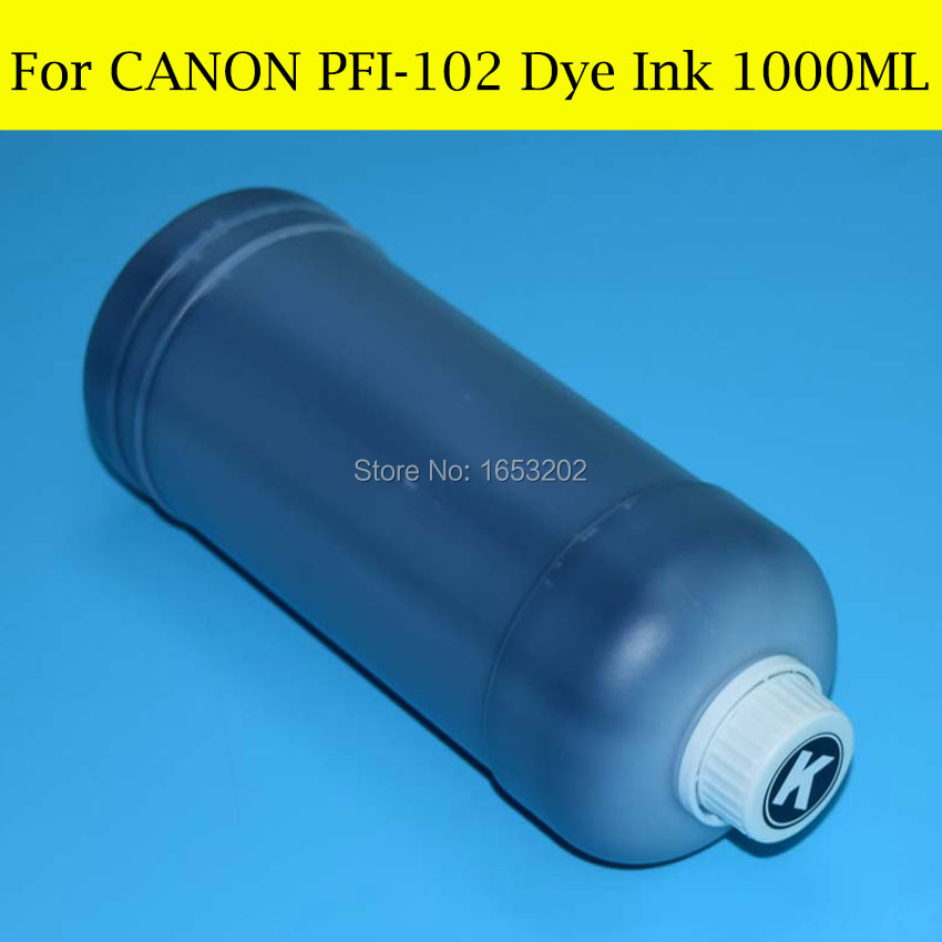 6 L For Canon PFI 102 Dye Ink For Canon iPF500 iPF510 iPF600 iPF605 iPF610 iPF700 iPF710 iPF720 Printer in Ink Refill Kits from Computer Office