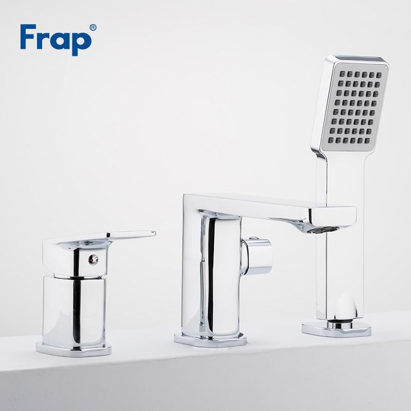 Frap Bathroom Shower Set Bathtub Faucet 3 Piece Split Bath Tub Bath