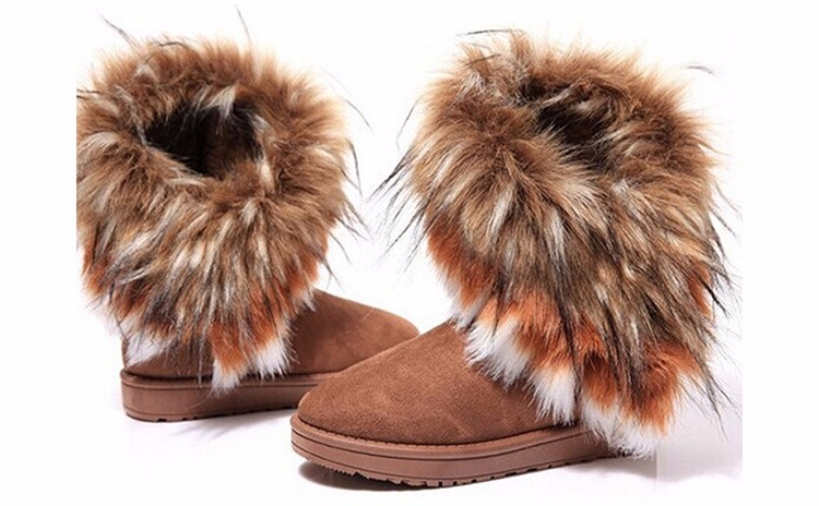2016 New Fashion Women Snow Boots Round Toe Solid Fur Warm Woman Boots Comfortable Wild Casual Women Shoes Free Shipping ST910 (2)