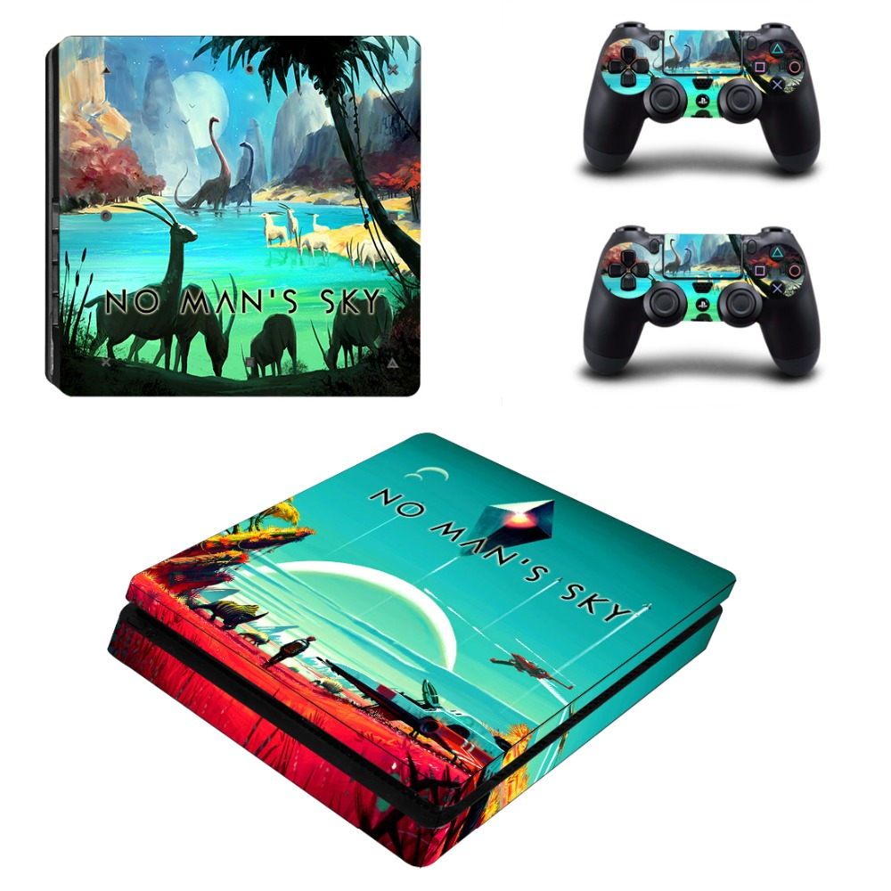 Game No Man's Sky PS4 Slim Skin Sticker For Sony PlayStation 4 Console and Controller Decal PS4 Slim Sticker Vinyl