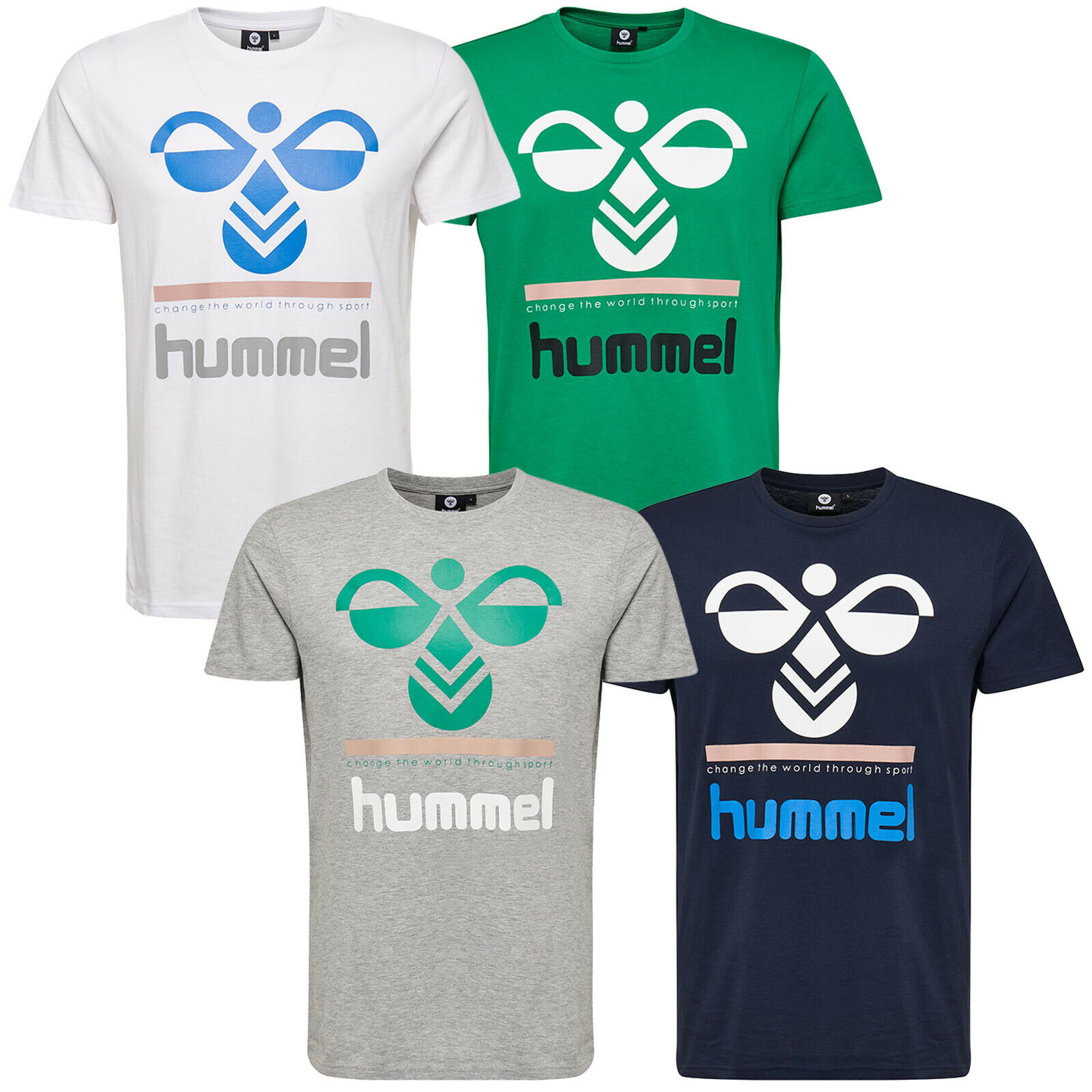 Hummel Winston T-Shirt S/S Mens Casual Shirts Short Sleeve 203420- show original title ...