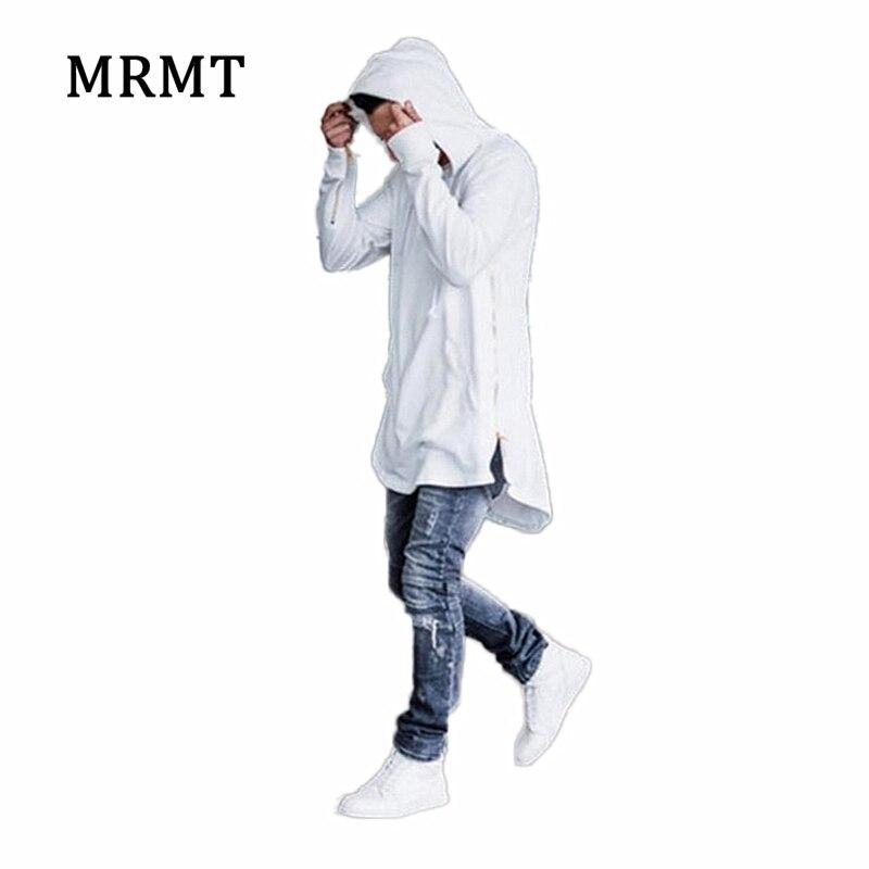 2018 Brand new Abbigliamento Uomo Felpe Felpe High street Lungo Della Chiusura Lampo Felpa Taglio Estese Uomini Hoody camicie maschili