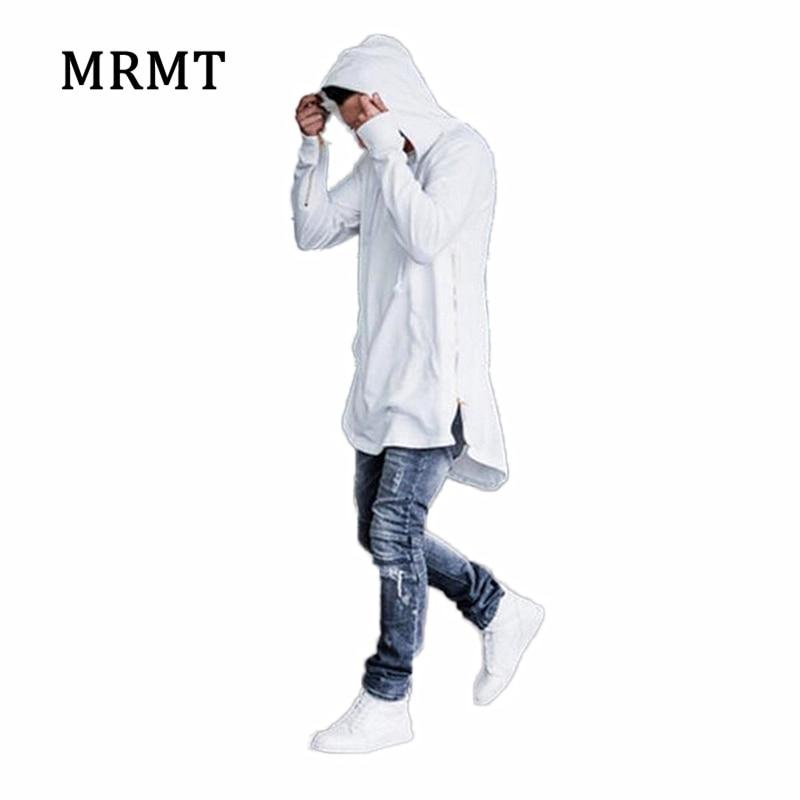 2018 ropa a estrenar Mens Hoodies sudaderas High street largo cremallera corte extendido Hoody hombres camisas masculinas