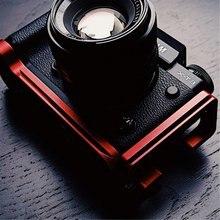 อลูมิเนียมสีแดง L จานยึดแนวตั้งสำหรับ Fuji XT3 Fujifilm X T3 Arca Swiss