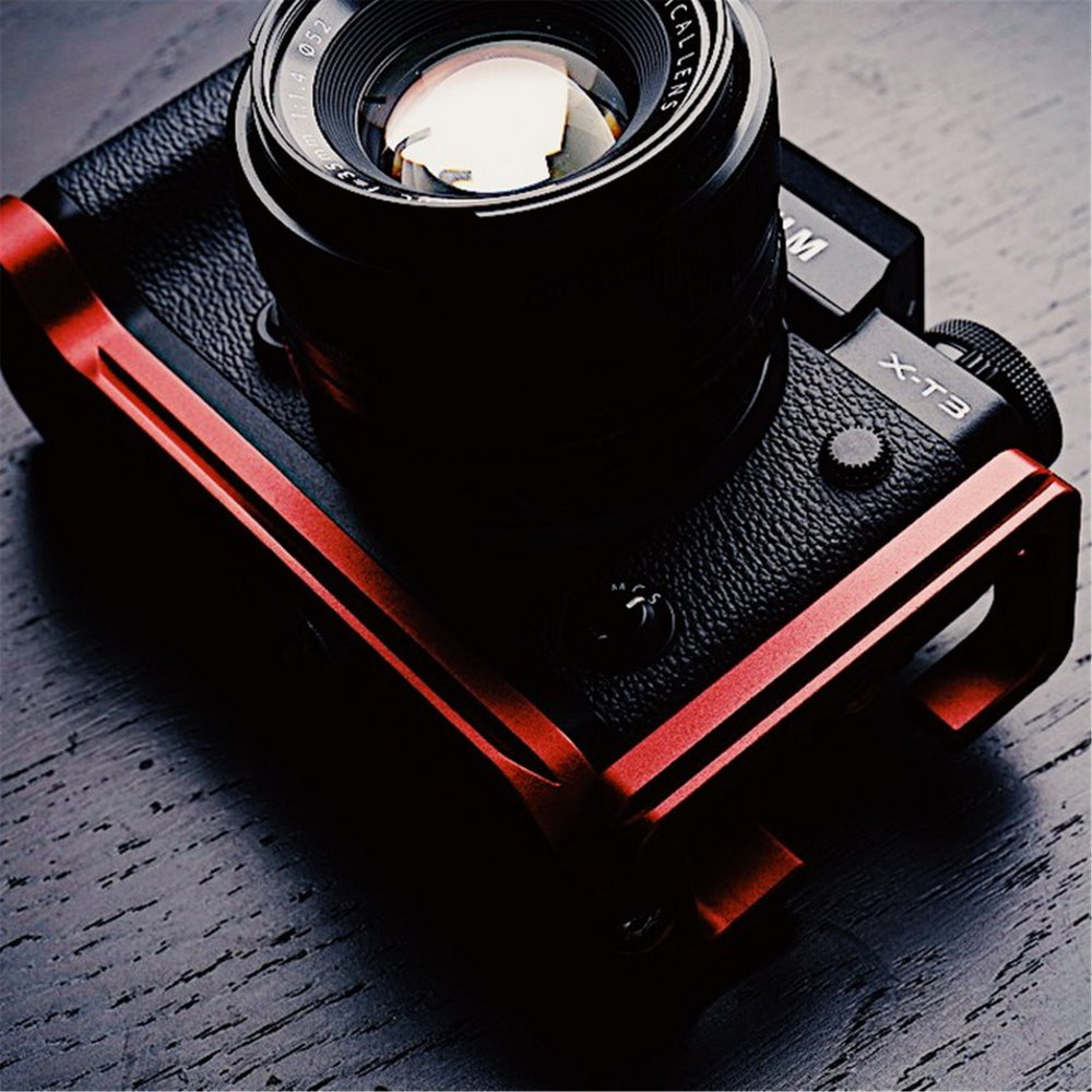 Red Aluminum Quick Release L Plate VerticaL Bracket For