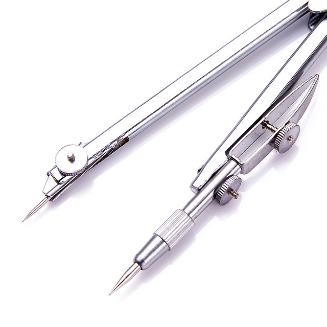 online shop deli stainless steel drawing compass math geometry tools ...