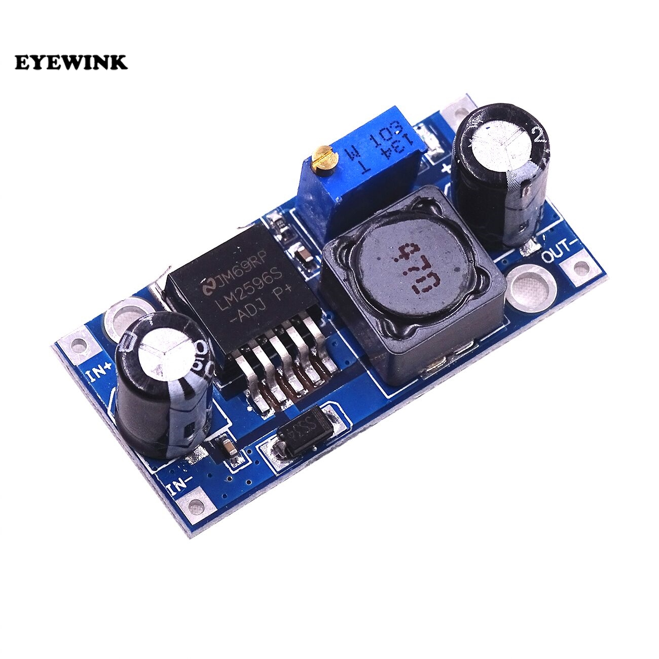 100pcs LM2596S LM2596 ADJ DC DC Step down module 5V 12V 24V adjustable Voltage regulator 3A
