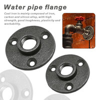 Hardware Tool 10pcs Iron Pipe Fittings Wall Mount Floor Antique DN15 DN20 Flange Piece Cast Iron Flanges