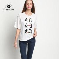 Для женщин футболка с цветком Дизайнер взлетно посадочной полосы Для женщин Футболка Высокое качество