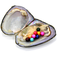 New Party Fun Freshwater Pearls One Shells Vacuum Packed Natural 9 Pearls Round Pearl Oysters Big Monster Oysters Gift FR047