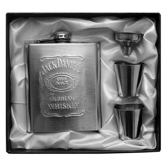 Stainless Steel 200ml/7oz Flask Set With Funnel U0026 2 Measuring Cups Russian  Hip Portable