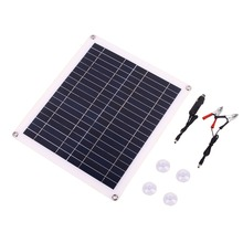 True 20W 18V Waterproof Battery Solar Panel USB Home Outdoor RV Car Charger USB+DC Port Charging solar cells cell