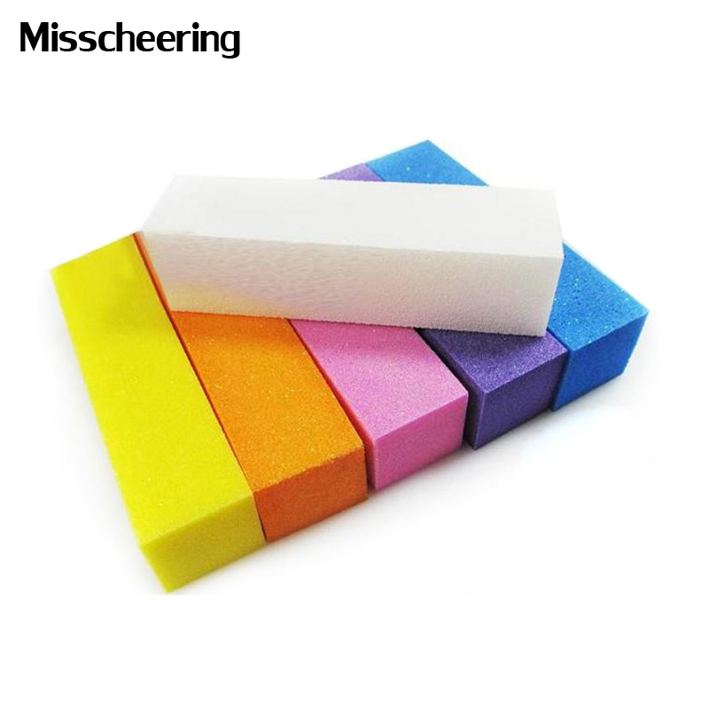 4pcs/set Nail Art Buffer Sanding Blocks, DIY Nail File Buffering Polishing Manicure Tools