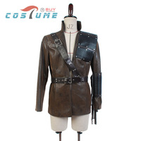 Green Arrow Oliver Queen Malcolm Merlyn Dark Archer Coffee Coat Outfit Mask Halloween Carnival Cosplay Costume