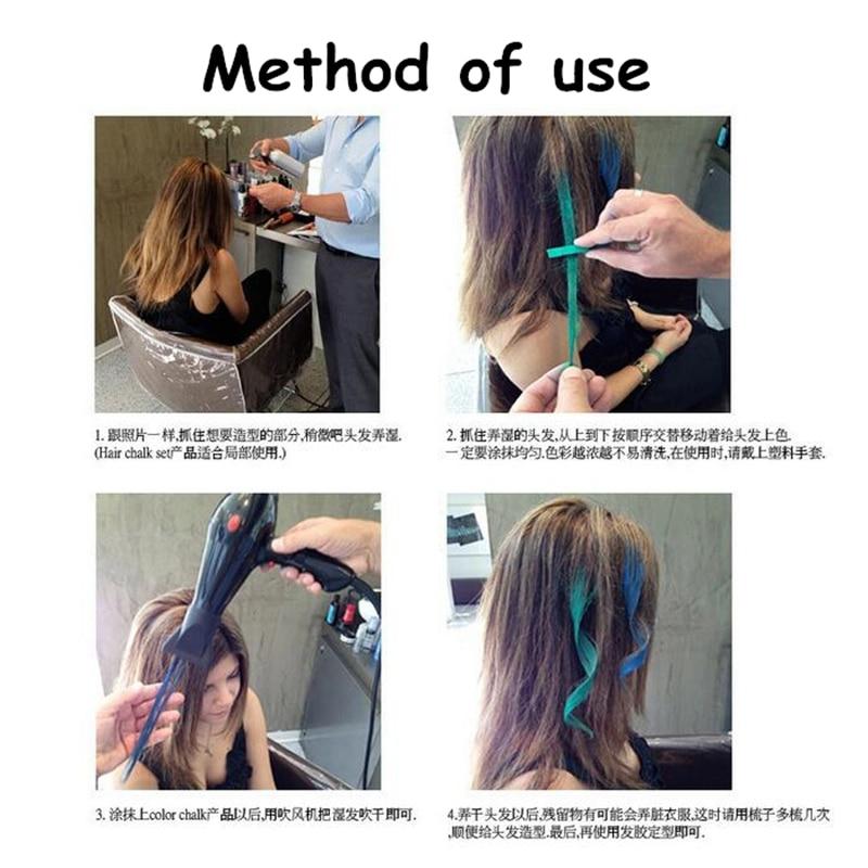 Soft Crayons Hair Dye Hair Color Chalk Temporary Mascara Salon Hair