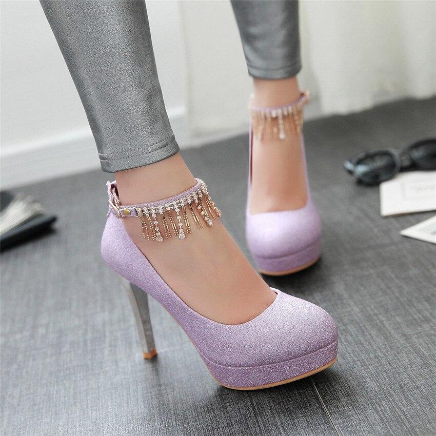 Women High Heel Shoes Platform Pumps Woman Thin High Heels Party Wedding Shoes Ladies Kitten Heels Plus Size 34 - 40 41 42 43