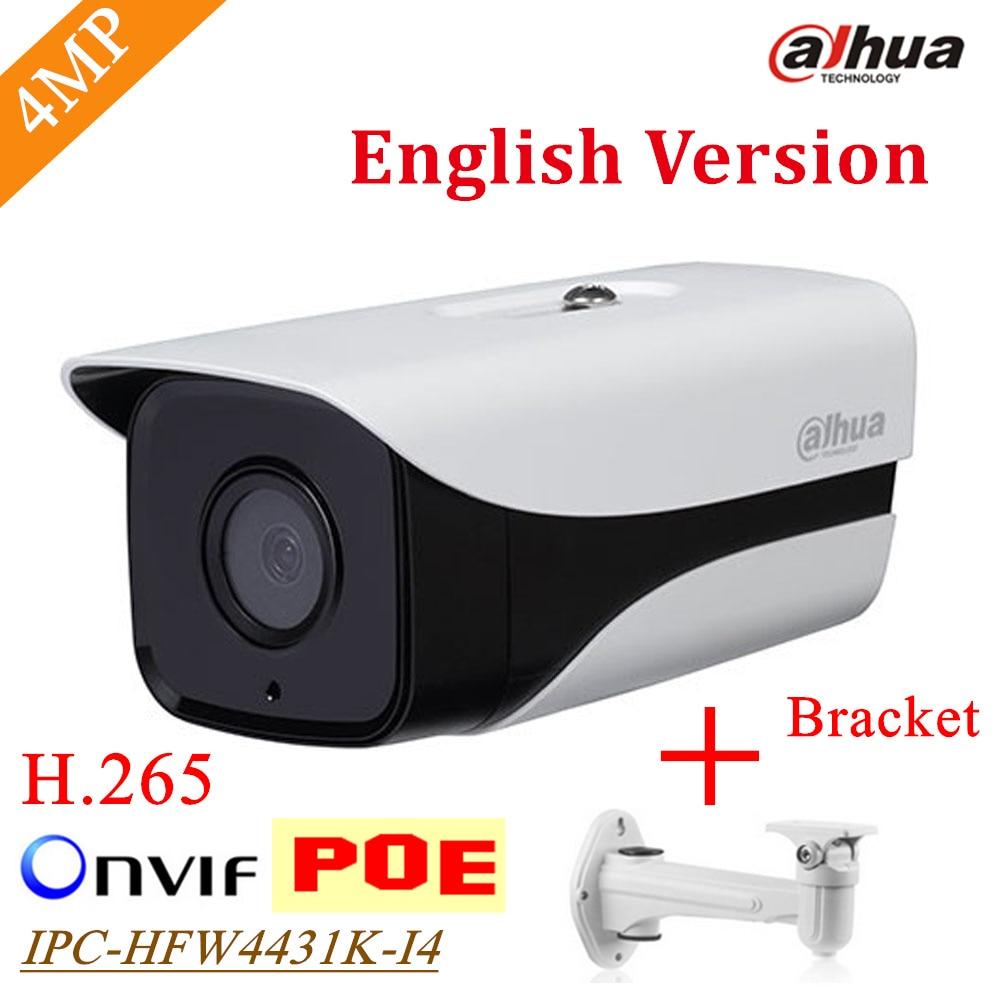 English version Dahua stellar camera DH-IPC-HFW4431K-I4 4MP Network IP Camera H.265 Bullet camera Bracket Gift IPC-HFW4431K-I4 original english firmware dahua full hd 4mp poe ip camera dh ipc hfw4421s bullet outdoor camera