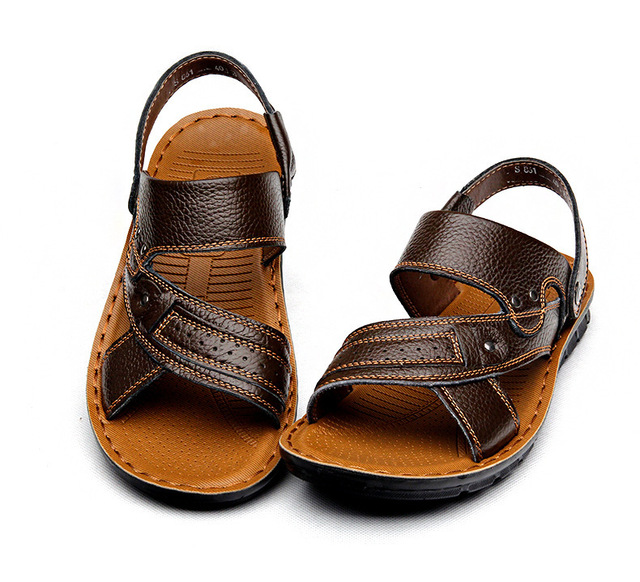 1e5890fa7 Top Selling Classic Design Men Sandals Fashion Genuine Leather Beach Sandals  Men Slippers Men Summer Shoes Zapatos Mujer LY-209