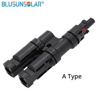 Adaptadores MC-4 2 a 1 T (1 par) envío gratis MC-4  conectores de rama 30A panel solar de TUV PV DIY Cable 2