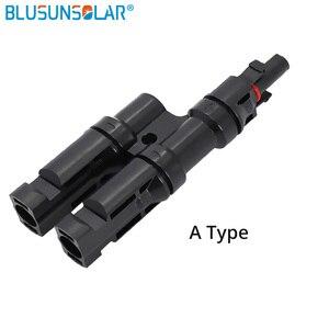 Image 2 - 1 ペア送料無料 MC 4 アダプタ MC 4 2 に 1 T 分岐コネクタ 30A TUV ソーラーパネル PV DIY ケーブル