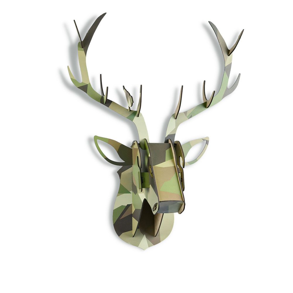 Limit Animal Christmas Reindeer Head Wooden Wall Hanging For Living - Hiasan rumah - Foto 3