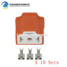 10 Sets 3 Pin H4 Plug-in Ceramic Connector, H4 Right Angle Connector, H4 Connector, 7.8 Ceramic H4-2A 24 pcs d sub 15 pin female connector right angle 3 rows