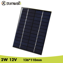 лучшая цена SUNWALK 2W 12V 166mA Epoxy resin Encapsulate Solar Cell Panel Polycrystalline Silicon Mini Solar Cell for DIY Solar System
