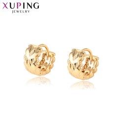Xuping Fashion kolczyki biżuteria złoty kolorowy platerowany Hoop kolczyki dla kobiet sprzedaż hurtowa przyjęcie zaręczynowe prezenty 96888