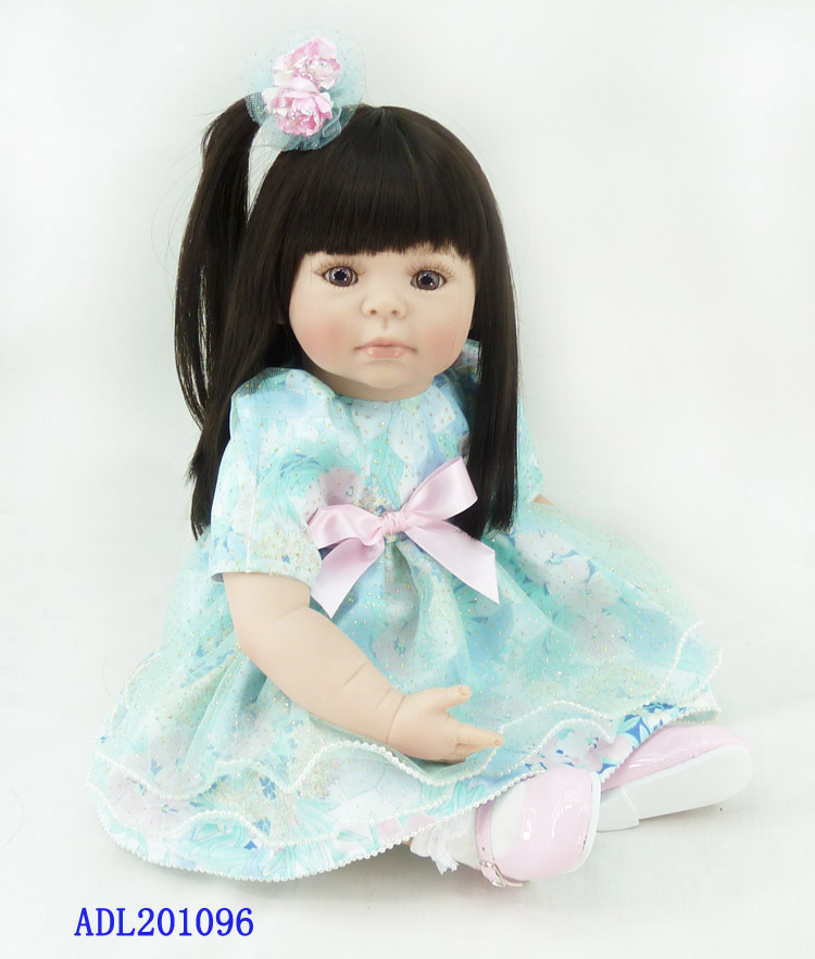 About 20 Silicone Vinyl Reborn Baby Doll toys accompany sleeping girl doll lifelike fashionable soft birthday gifts