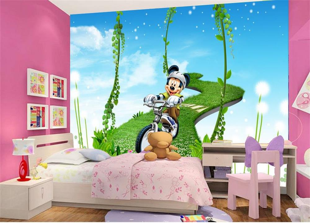 Popular mickey mouse sofa buy cheap mickey mouse sofa lots for Wallpaper 3d kids