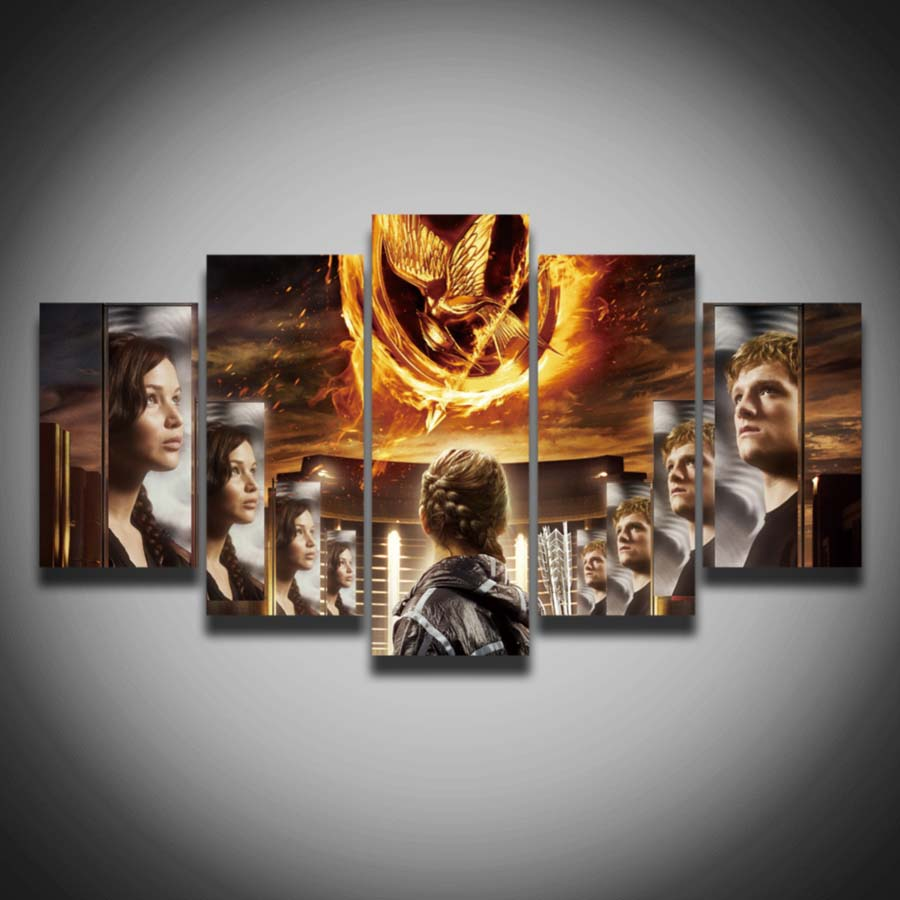NO FRAME Printed cool movie poster The Hunger Games picture spray ...
