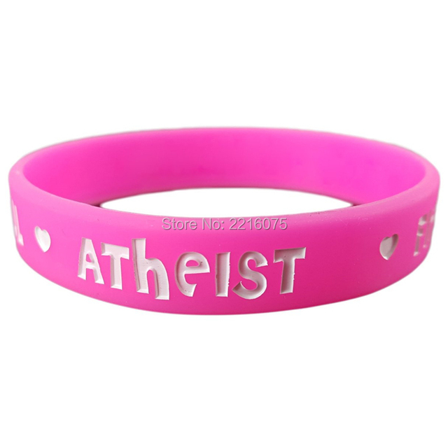 300pcs Bold Beautiful Fierce Y Atheist Silicone Wristband Rubber Bracelets Free Shipping By Dhl Express