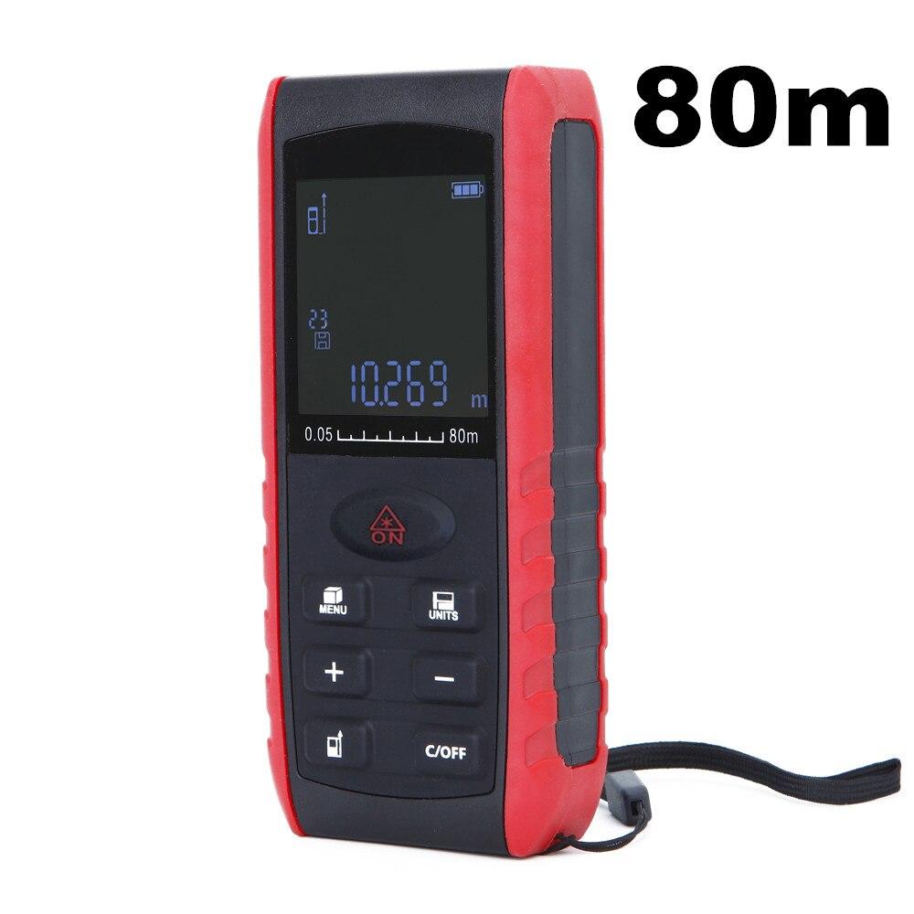 10pcs by dhl fedex Laser distance meter 80m distance meter level Tape tool Rangefinder Rang finder measure Area Volume цена