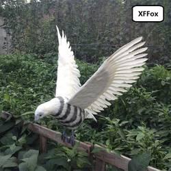 Большой Моделирование серая полоса модель орла пены и перо Крылья Орел птица игрушка в подарок около 46x90 см xf0673