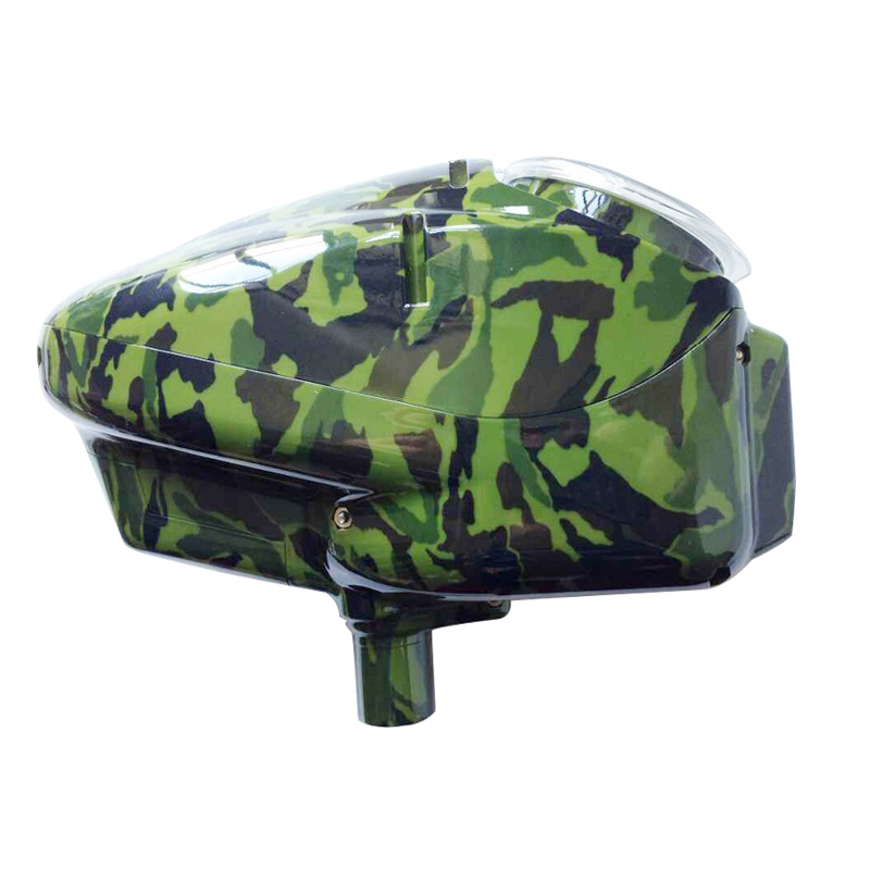 0.68 Paintball Electronic Loader Motorized Paintball Hopper 180 Rounds High Performance-Shining Camo Green