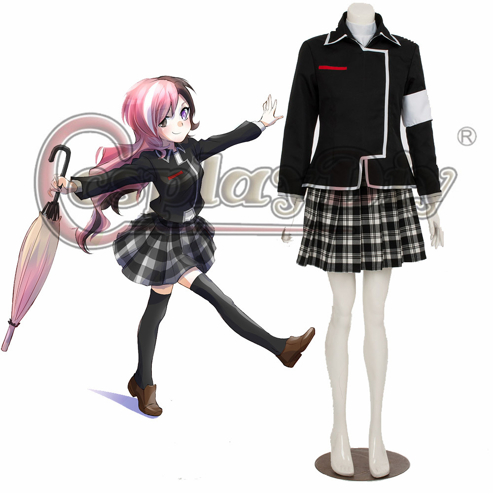 Cosplaydiy RWBY Heaven Academy Female School Uniform Adult Women Halloween Cosplay Costume Custom Made D0518
