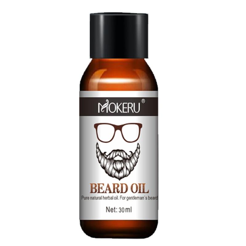 1pc 30ml Mokeru 100% Natural Organic Beard Growth Oil For Men Beard Grooming Treatment Shiny Smoothing Beard Care 4