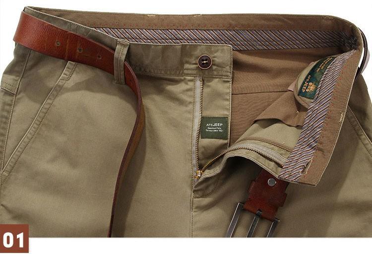 4 Colors 30-42 100% Cotton Fashion Joggers Men Casual Long Pants Men\'s Clothing Black Khaki Pants Trousers Autumn Summer Brand (10)