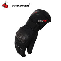 PRO BIKER Moto Gloves Outdoor Sports Warm Windproof Motorcycle Gloves Non Slip Motorbike Gloves Black Blue