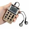 V-112 TIVDIO Pocket Mini Rádio AM FM 2 Banda Multibanda Rádio Gravador De Receptor De Rádio Bateria Recarregável & Fone de Ouvido Melhor F9202