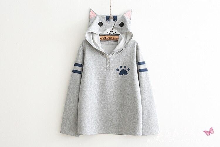 Cat Lover Hoodie Mori Girl Hoodie 2 Colors