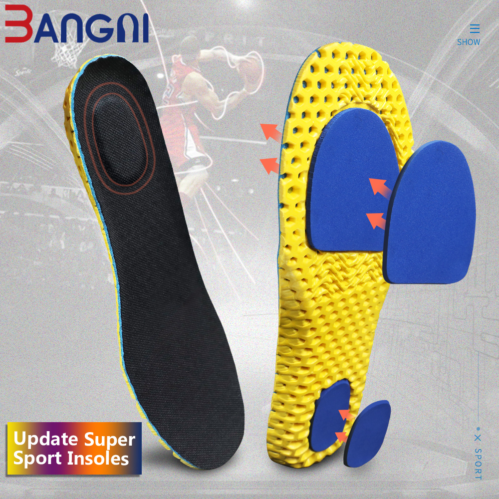 3ANGNI Update Shoes Accessories Light Soft Insoles Ortholite EVA Foam Sport Arch Support Insert Woman Men For Feet Running
