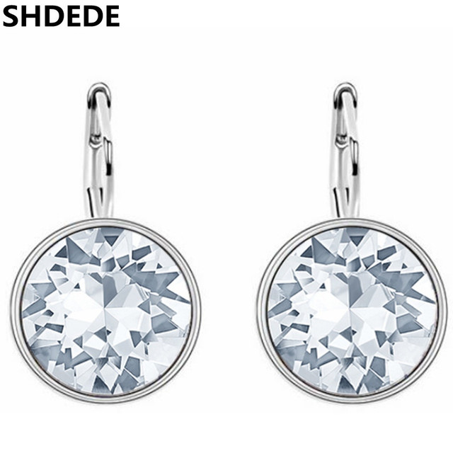 1296b11d0 Aliexpress.com : Buy SHDEDE Round Crystal from Swarovski Drop Earrings For Women  Fashion Jewelry Clear Rhinestone Classic Simple Accessories from Reliable  ...