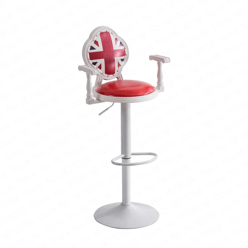 Bar Chair Modern Simple High Chair Bar High Bench Mobile Phone Shop Stool Back Bar Stool Home Lift Bar Chair